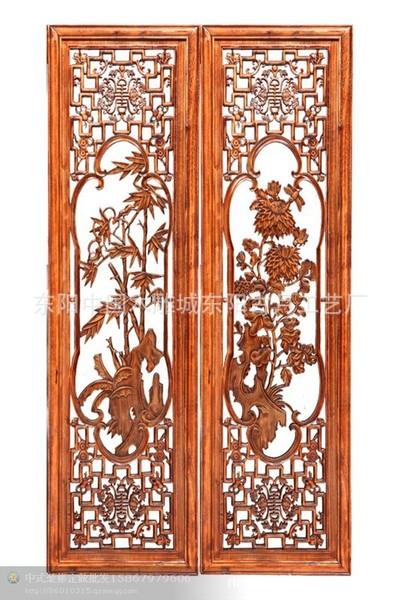 东阳木雕/木雕装饰/中式装修四条挂屏梅兰竹菊条屏特价