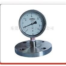 平面法兰式隔膜压力表、耐高温隔膜压力表、隔膜压力表