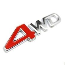 4WD四驱越野改装车标立体四驱车标4WD标后尾箱标志汽车车