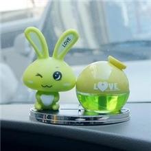 爱心兔子香水love兔汽车香水座/车用香水座车用香水