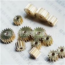 供应0.5m12齿圆柱直齿小模数铜齿轮齿条齿轮加工标准齿轮