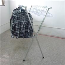 免安装1.5米家居晾晒架X型晾衣架双杆折叠衣架摆地摊货架