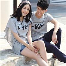 9200夏季情侣装纯色短袖T恤
