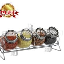 厂家生产供应玻璃调味瓶/宜家调料瓶/储物罐/密封罐/五件套/120ml
