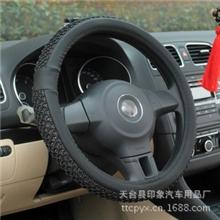 夏季汽车方向盘套冰丝把套超纤皮通用车套按磨点把套五座通用批发