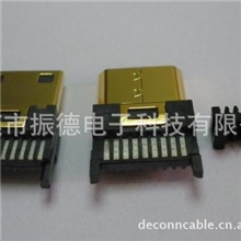 miniHDMIctypeMaleI.D.C公头夹板式电脑线材连接器