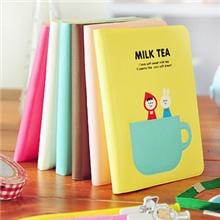 A050日韩国文具可爱奶茶时光胶套本记事本随身携带笔记本