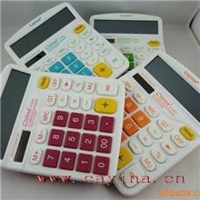12位计算器彩色计算器台式计算器太阳能计算机837C