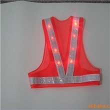 供应LED反光背心/欧美交通安全服