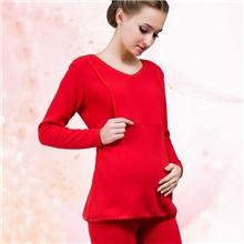 孕妇保暖内衣哺乳衣家居服加绒加厚秋衣秋裤月子服冬孕妇装套装
