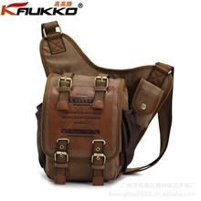 FH03高高路新款复古男包帆布包休闲包时尚男士包包潮酷斜挎包