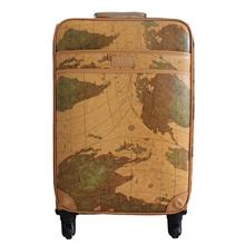 【厂家直销】韩国地图纹万向轮拉杆箱复古拉杆旅行箱行李箱皮箱