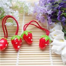 h038韩国儿童大草莓皮筋对扎发饰宝宝头饰品发绳S
