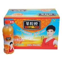 食品饮料生产厂家长期供应450ML优质口感果粒橙饮料果蔬汁饮料