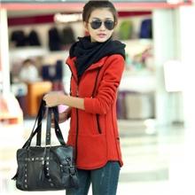 2013新款女装加厚中长款卫衣秋冬装韩版长袖休闲外套