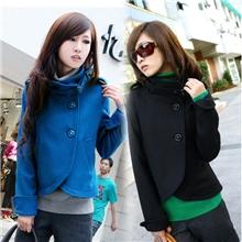 2013韩版气质贵族OL名缓风斗蓬立领仿羊毛呢女式短款小外套