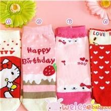 韩版绦棉卡通袜|短款成人袜|外贸卡通袜子|直板卡通袜女袜何明月