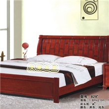 南康家具实木家具实木床卧室家具杂木床中式家具828#