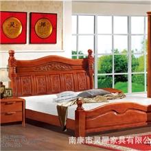 南康家具实木家具实木床卧室家具经典款208#热销田园家具