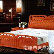 南康家具/卧室家具实木床中式家具橡胶木床实木家具3368#热销