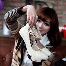 埋女鞋一件代发全国连锁加盟女鞋2013款精致串珠链条可爱单鞋