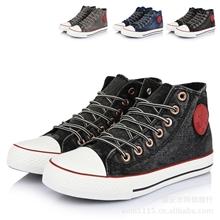 2013新款飞耐F220水洗牛仔布男士高帮帆布鞋韩版篮球鞋硫化鞋