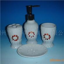 厂家直销卫浴中温陶瓷卫浴四件套卫浴用品礼品