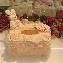 厂家直销唯美爆款经典韩式蕾丝短纸巾盒纸巾抽礼品纸巾盒