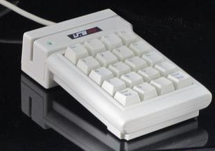 银联7502条码卡磁卡数字键盘刷卡器银联YLE7502单二轨磁卡查询机