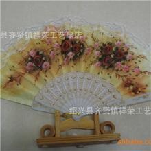 厂家直销绢扇广告绢扇折叠广告绢扇一尺折叠广告绢扇