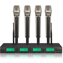 UHF-802一拖四无线麦克风UH频段麦克风无线话筒k歌麦克风