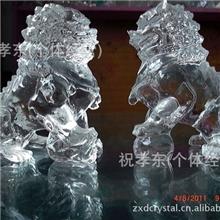 【140元一对廉价出售】水晶狮子,水晶工艺品,用于镇宅