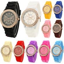 爆款硅胶手表日内瓦钻石手表批发时尚手表GENEVA手表