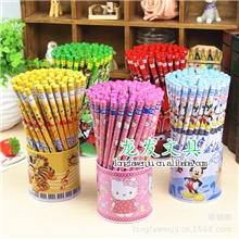 HELLOKITTY卡通铅笔学生学习用品、多款卡通木质铅笔72支一桶