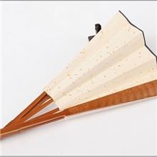 10寸15方仿古竹节宣纸折扇安徽宣纸工艺空白扇面书画扇子