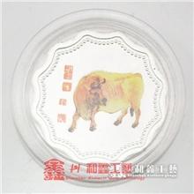 深圳厂家供应纯银纪念币纪念章镀银纪念币蛇年纪念币