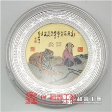 深圳鑫和鑫专业批发供应定做彩印纪念币移印纪念章logo彩印