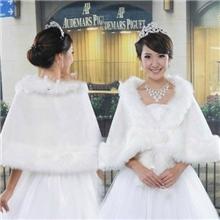 新娘婚纱披肩白色长毛冬天保暖毛披肩婚纱必备披肩婚纱礼服披肩