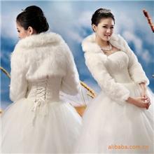 好百年新娘披肩婚纱礼服披肩高档长毛披1101款