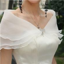 批发新款新娘白色披肩蕾丝披肩夏季薄款披肩热卖婚纱配饰PJ065