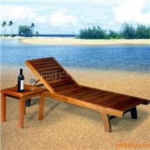 批发沙滩椅户外家具木制沙滩椅泳池椅