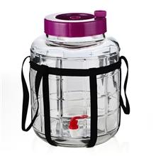16升密封酿酒玻璃罐自制水果发酵罐带水龙头玻璃酵素罐