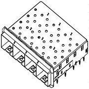 SFPPlusCage,1x4:3S000000-A41-4F