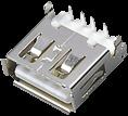 【USB首选供货商】USBA/F单层沉板式2E两点式,东莞USB连接器厂