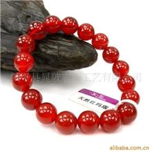 红玛瑙串珠手链玛瑙玉石手镯挂件项链圆珠
