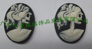 厂家直销树脂浮雕美女骷髅头、浮雕美人头、浮雕花草