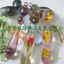 供应透明水晶胶树脂按摩棒、水晶胶树脂成人情趣用品