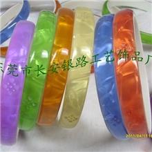 长期生产销售仿贝壳彩色POLY树脂装饰圈