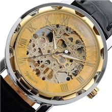 【外贸热卖】WINNER镂空自动机械手表男士商务休闲机械手腕表