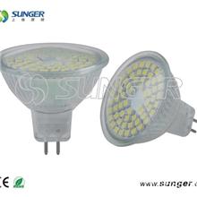供应12VMR16玻璃灯杯60灯室内LED照明LED灯